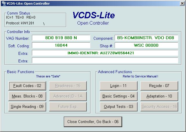 Fis Control Manual